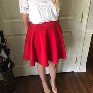41 Hawthorn Red Skater Skirt